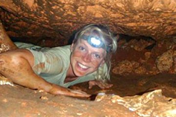 Caving in the Loltun Caverns